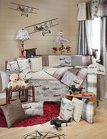 Fly-By 4 Piece Baby Crib Bedding Set with Bumper by Glenna Jean - Glenna Jean Baby Crib