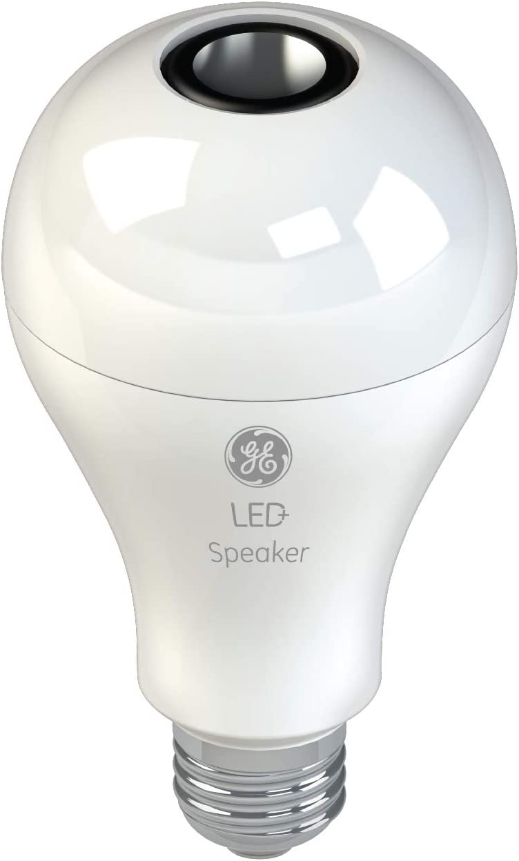 GE LED+General Purpose LED Light Bulb Replacement with Bluetooth Speaker - A21 in Soft White,1CT