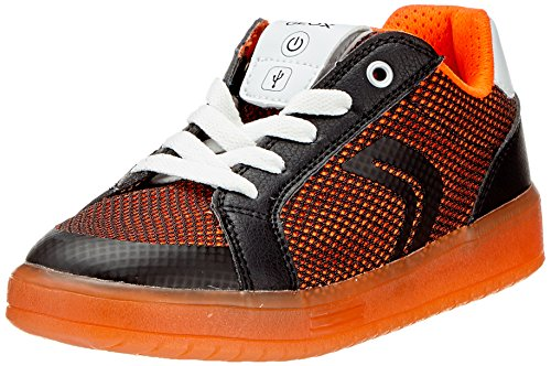 A Geox orange Kommodor black Niños Negro Para Zapatillas BUPU6gWwqF