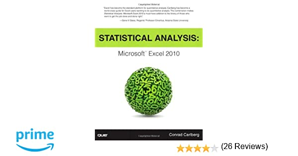 Amazon.com: Statistical Analysis: Microsoft Excel 2010 ...