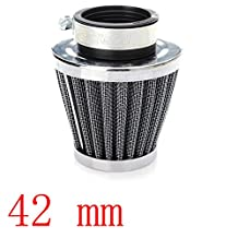Etopars 42mm Mini Blue Universal Car Motor Cone Cold Clean Air Intake Filter Turbo Vent Vehicle