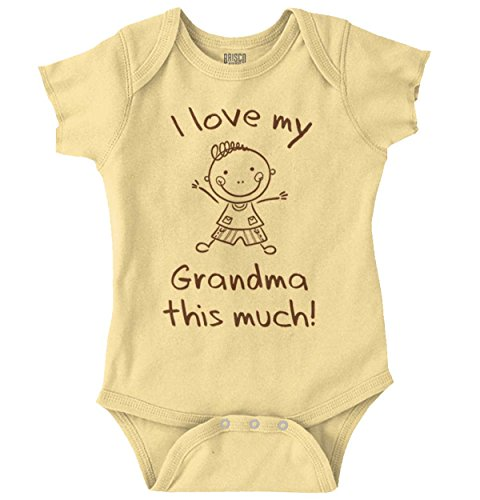 Love Grandma This Much Cute Family Newborn Romper Bodysuit