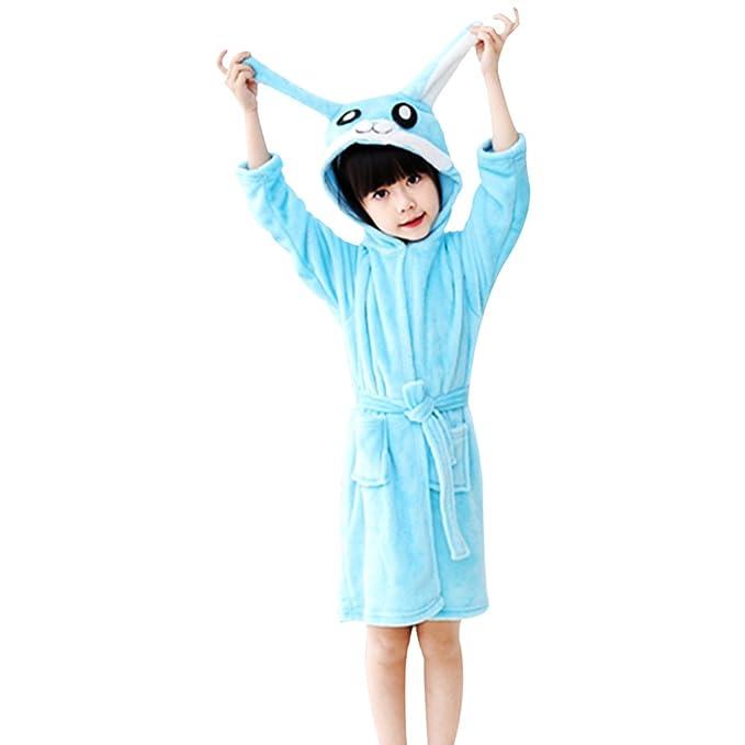 Missley Franela Unicornio Albornoces Encantador Bebé Elefante Pijama Calentar Suave Animal Capucha Mejor Regalos para Niños