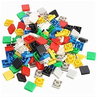 1400pcs Square Mixed Color Tactile Button Caps Kit For 12x12x7.3MM ...