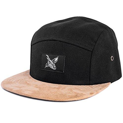 Blackskies Port Fairy 5-Panel Hat   Men Women Baseball Cap Floral Dad Snapback Strapback Hip Hop Urban Black Suede