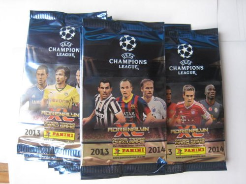 (Panini UEFA Champions league 2013 / 2014 Adrenalyn XL Soccer Cards 10 Packs)
