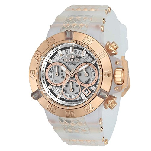 Plastic Transparent Watch (Invicta 24374 Women's Subaqua Noma III Chrono Silicone & Plastic Strap Transparent Dial Dive Watch)