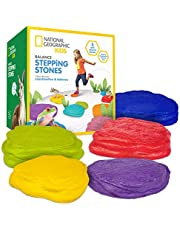 NATIONAL GEOGRAPHIC Balance Stepping Stones - Early Learning & Development for Kids 5 Soft Stones Multicolor