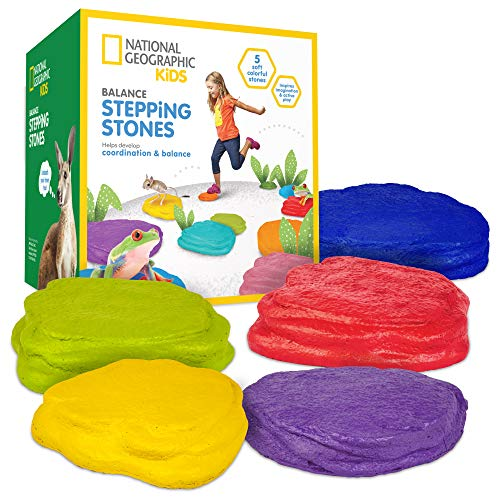 🥇 NATIONAL GEOGRAPHIC Balance Stepping Stones – Early Learning & Development for Kids with 5 Soft Stones
