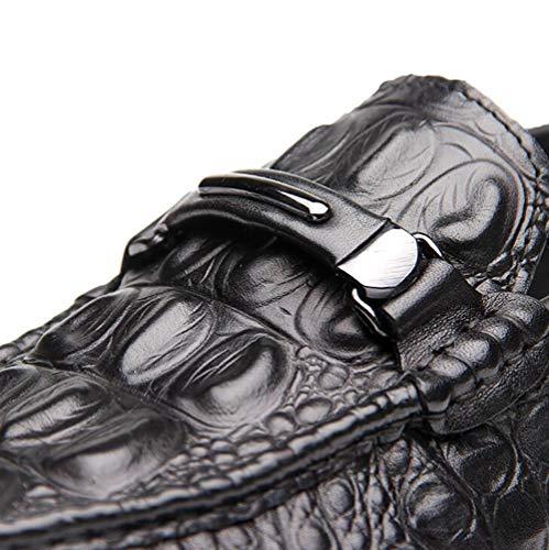 Pelle Scarpe Indossabile 44 Di Guida Uomo Scarpe Pigro Di Cuoio Comodo Scarpe E Black Casual Di WxOnRSAxX