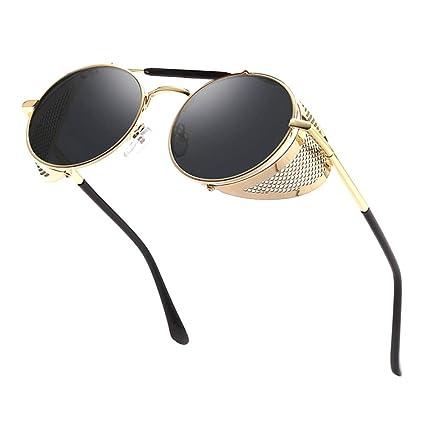 Vintage Steampunk Round Sunglasses Men Circle Retro Mirror Sun Glasses Women Crave Luxury Oval Steam Punk Style Uv400 by Unisun