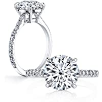 3 Carat Round Cut Cubic Zirconia 925 Sterling Silver Women Wedding Engagement Rings