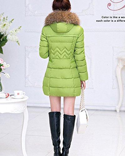 Saideng Faux Blouson Vert Capuche Jacket Veste Hoodie Manche Femme Fille Fourrure Rembourré ZwqFTZ