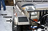 Jeep YJ Black Diamond Plate Front Fender Covers