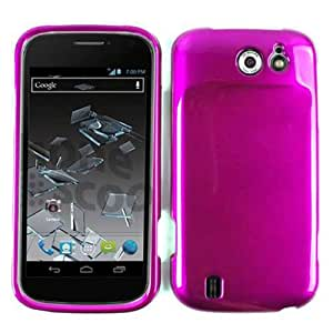 ACCESSORY HARD SHINY CASE COVER FOR ZTE FLASH N9500 SOLID PURPLE