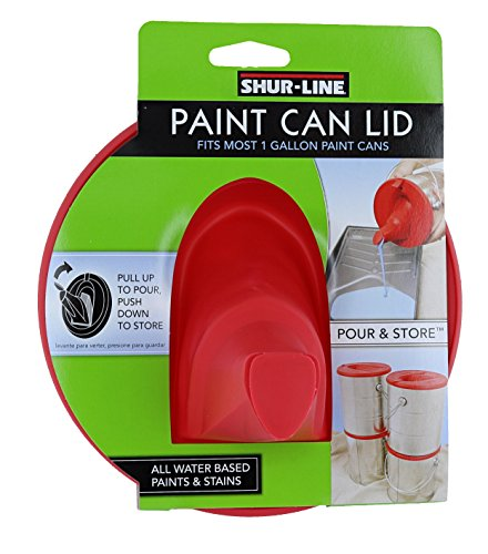 Shur-Line 1783844 Red Silicone Mess-Free Store and Pour Collapsible Paint Can Lid - Gallon Paint Can