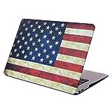 HDE MacBook Air 13 Case Flag Print Designer Pattern Plastic Slim Hard Shell Snap On Case Fits Models A1369 / A1466 (American)