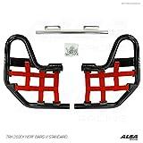 Honda TRX 250EX, TRX250EX SPORTRAX (2001-2008) Standard Nerf Bars Black Bars w/ Red Net