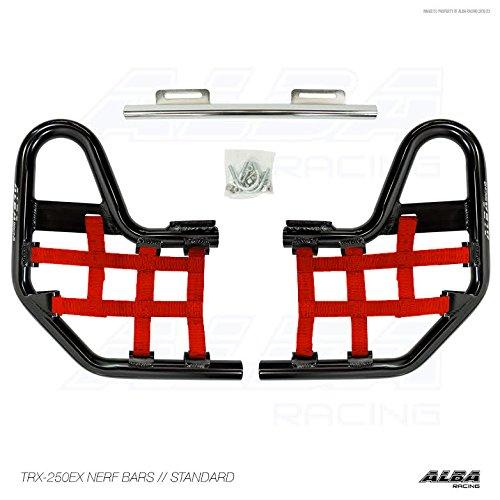 TRX 250EX, TRX250EX SPORTRAX (2001-2008) Standard Nerf Bars Compatible with Honda Black Bars w/Red Net by Alba Racing