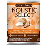 Holistic Select Grain Free Turkey Can Dog Food, Large