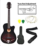 Kadence Zabel Zbtr11 Acoustic Guitar With Truss Rod Combo With Bag, Strap, One Pack Strings And 3 Picks
