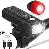 LED Bike Light. Powerful USB Rechargeable Headlight + FREE Tail Light. A Waterproof Cycling Set (Front and Rear), Mounts Securely w/o Tools and Fits ALL Bicycles. Bright, Visible, Durable - ProLight