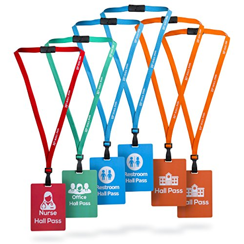 Form Premium Products Durable Hall Pass Lanyards and School Passes-Private School Design with Extra Large Tags (Set of - Hall Pass