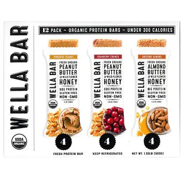 Wella Bar Fresh Protein Bars Variety Pack (12 pk.) (pack of 6) by Wella Bar