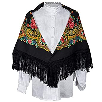 Daquela Modelo Tui - Pañuelo o mantón para mujer (Negro ...