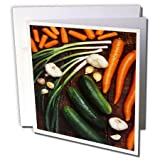3dRose TDSwhite – Farm and Food - Food Healthy Eating Vegetables - 12 Greeting Cards with Envelopes (gc_285153_2)