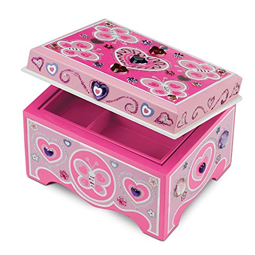 Melissa & Doug Decorate-Your-Own Wooden Jewelry Box Craft Kit ()