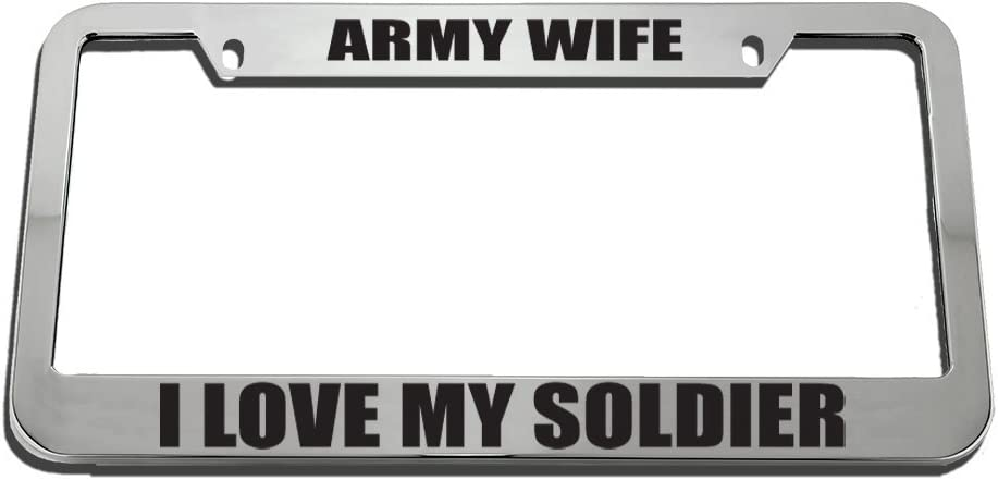 Speedy Pros Army Wife I Love My Soldier License Plate Frame Tag Holder