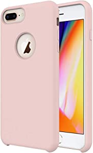 TIAMAT iPhone 8 Plus Case/iPhone 7 Plus Case/iPhone 6 Plus Case, Soft Touch, Comfortable Grip, Slim Fit, Liquid Silicone Case with Microfiber Cloth Lining Cushion - Rose Gold