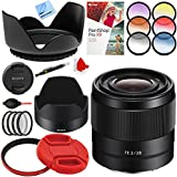 Sony FE 28mm F2 E-mount Full Frame Prime Lens with 49mm Filter Sets Plus Accessories Bundle