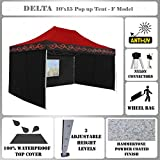 10'x15′ Pop up Canopy Wedding Party Tent Gazebo EZ Red Flame – F Model Commercial Frame By DELTA