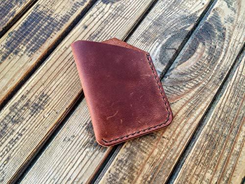 Credit Card Holder Men's Slim Wallet Leather Business Card Case Minimalist Front Pocket
