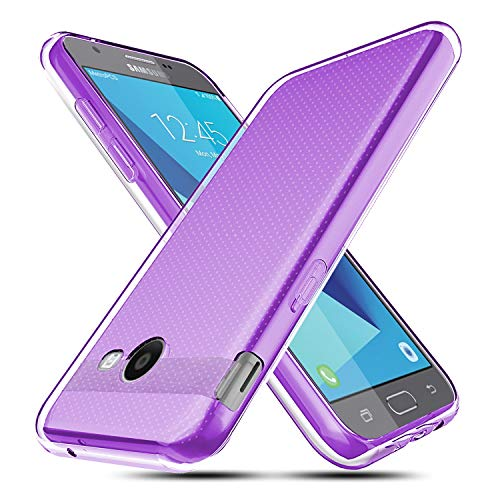 for Samsung Galaxy J3 Emerge / J3 Prime / J3 Mission / J3 Eclipse / J3 2017 / J3 Luna Pro/Sol 2 / Amp Prime 2 / Express Prime 2 Case, OEAGO Ultra Slim Thin Premium Flexible Soft TPU Case (Purple)