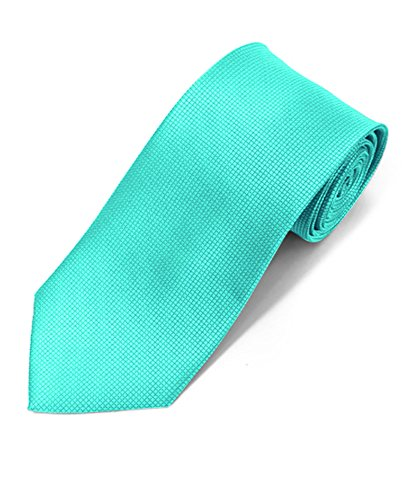 Silky Feel Solid Micro Woven Tie (Turquoise)