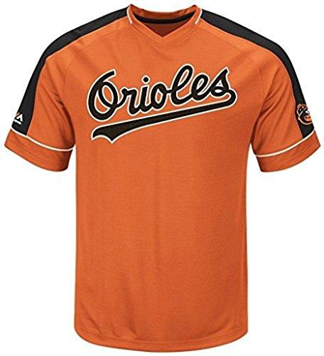 VF Baltimore Orioles MLB Mens Majestic Cooperstown Vintage Hit Jersey Orange Big Sizes (4XL)