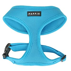 Puppia Soft Dog Harness, Sky Blue, X-Large
