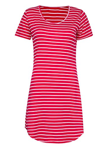 PERSUN Women's Summer Basic Stripes Short Sleeve Shift - Endless Summer Dress
