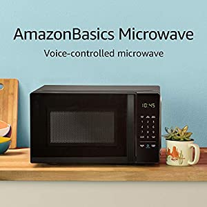 Amazon Basics Microwave, Small, 0.7 Cu. Ft, 700W, Works with Alexa 10