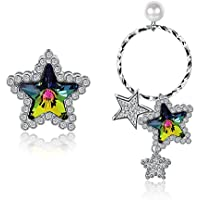Austrian Crystal Fashion 925 Silver Star Earring Birthday Gift For Mother Girl