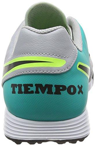 Weiß Klar Jade Svart Tf Oransje Grå Nike Metallisk Sølv Tiempox Genio ulv Skinn Ii Grå Joggesko Menns Svart XO6ZOq0