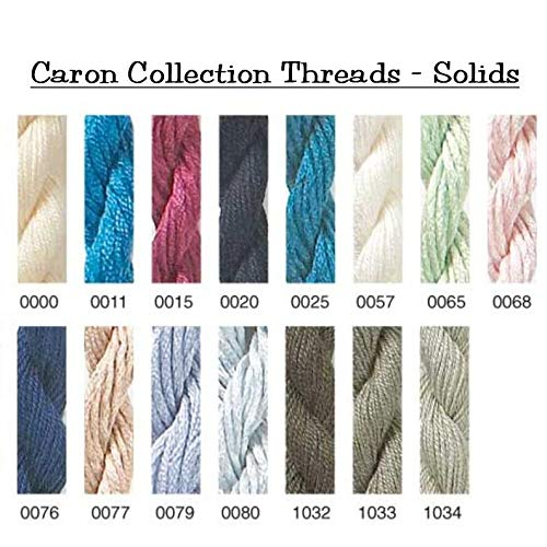Caron Collections Soie Cristale, Hand-Dyed Threads. Color #0057, White