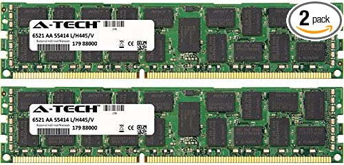 32GB KIT ECC Registered Genuine A-Tech Brand. 2 x 16GB for SuperMicro C Series C7X58 DIMM DDR3 ECC Registered PC3-10600R 1333MHz Single Rank Server Ram Memory