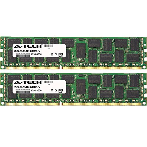 A-Tech 8GB KIT (2 x 4GB) For HP-Compaq ProLiant Series DL120 G7 (628690-371) DL120 G7 (628691-371) DL120 G7 (628692-371) DL120 G7 (6473. DIMM DDR3 ECC Unbuffered PC3-10600 1333MHz Dual Rank RAM Memory