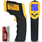 LP Digital Infrared Thermometer , Non-contact Temperature Gun with LCD Laser Sight , Instant-read Handheld , Yellow/Black