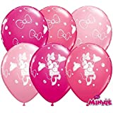 10 Luftballons Minnie Maus 26cm