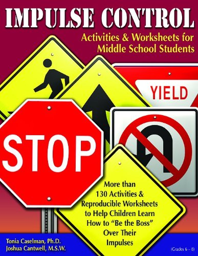 Student Worksheet - Impulse Control Activities & Worksheets for Middle School Students with CD